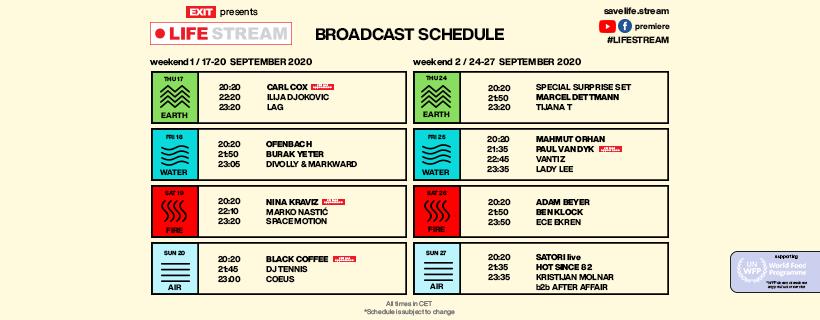Exit Festival - Life Stream [schedule]