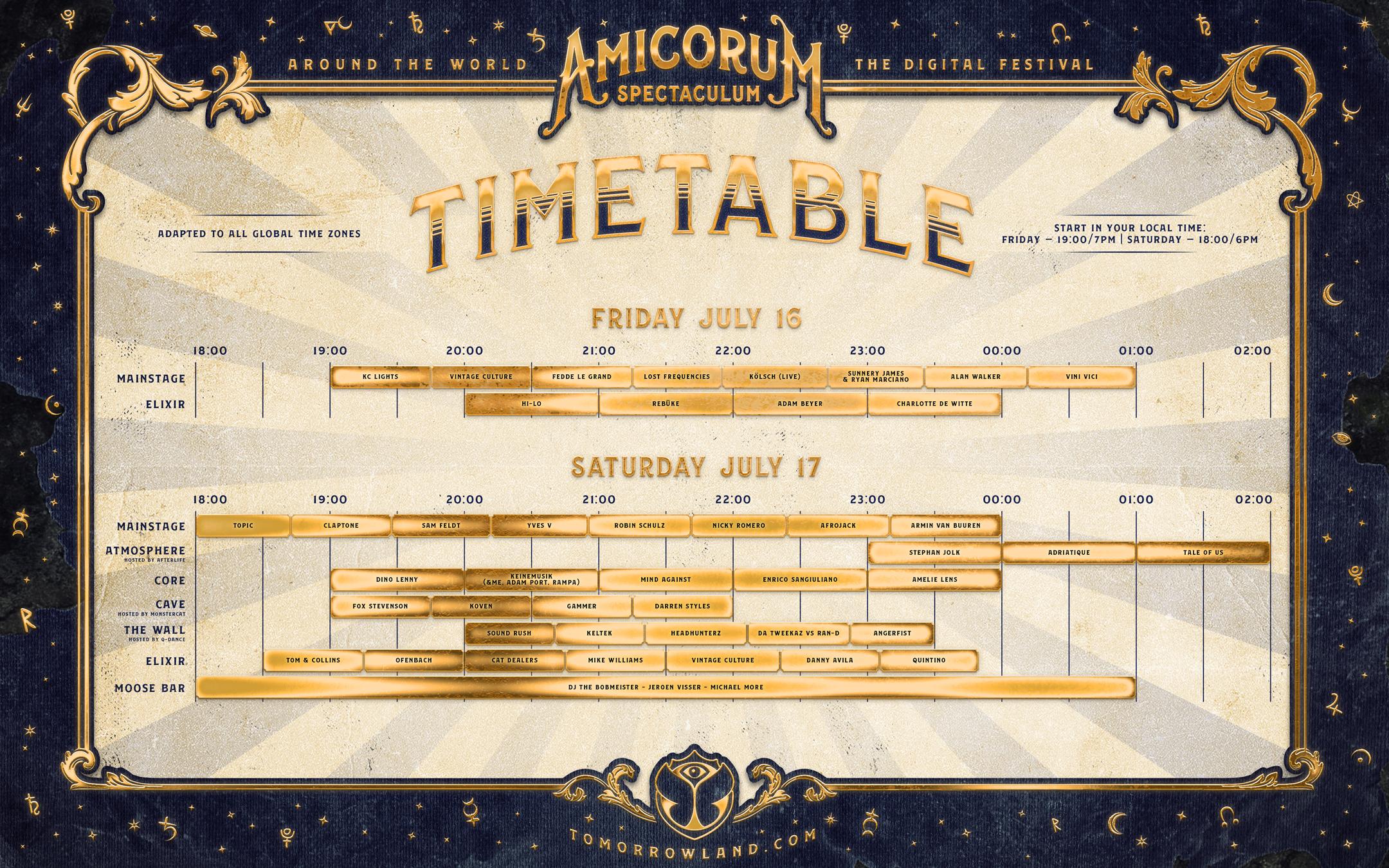Timetable Tomorrowland